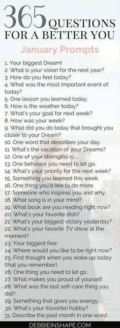 365 questions for Group accountability, support and fun Becoming a better you is the goal of every high-achiever. Come and join me for 365 questions for a better you, the January edition. 365 Questions, Random Questions, Questions About Me, Youtube Questions, Facebook Questions, Coaching Questions, Instagram Questions, Fun Questions To Ask, Becoming A Better You
