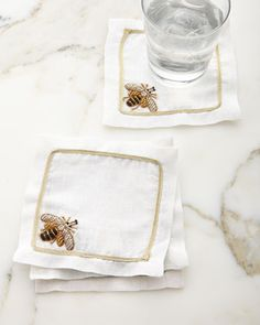 Shop Sparkle Bee Cocktail Napkins, Set of 4 from Joanna Buchanan at Horchow, where you'll find new lower shipping on hundreds of home furnishings and gifts. Linen Napkins, Napkins Set, Autumn Table, Bee Art, Cocktail Napkins, Hostess Gifts, Kitchen Dining, Kitchen Cupboard, Tablescapes