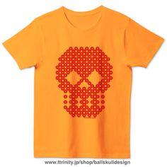 #Design made by 🏀#Dots 💀  #BBall #balldots #dotart #dotdesign #hoop #basketball #red #ball #バスケ #ボール #ドット #デザイン #skull #髑髏 #Tシャツトリニティ  T-shirts Color choice📲 & size XS to XXL (細め?=サイズ表を要✔️) https://www.ttrinity.jp/shop/ballskulldesign