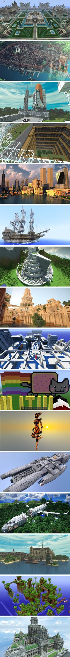 The awesome creations of some people in Minecraft.
