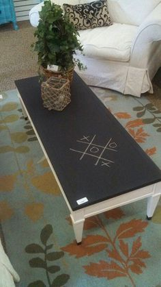 Up-cylce 1970's coffee table.