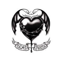 45 Heart Designs for Tattoos - Dead Inside Black Heart Heart With Wings Tattoo, Black Heart Tattoos, Rose Tattoos, Crown Tattoo Design, Heart Tattoo Designs, Heart Designs, Barbed Wire Tattoos, Tattoo Banner, Heart Broken