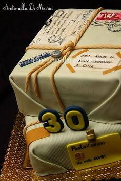 Oldfashioned parcel cake.... - by antonelladimaria @ CakesDecor.com - cake decorating website