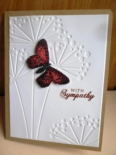 Butterfly sympathy by hultenlk - Cards and Paper Crafts at Splitcoaststampers