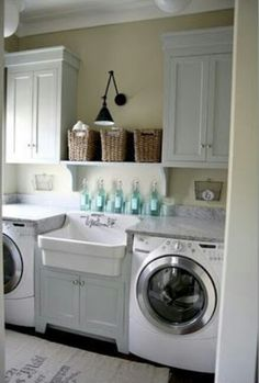 laundry room. love the light fixture!