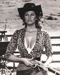 "Claudia Cardinale in ""Once upon a time in the West"""