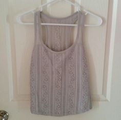 Hollister Tank Reposh..super cute just didn't fit - light gray color Hollister Tops Tank Tops