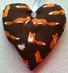 Fox Fabric Lavender Bag / Fox Christmas Gift / Stocking Filler - Handmade in Home, Furniture & DIY, Celebrations & Occasions, Other Celebrations & Occasions | eBay