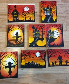 Halloween Art Projects, Fall Art Projects, Halloween Artwork, Halloween Rocks, Theme Halloween, Halloween Painting, Halloween Crafts For Kids, Fall Halloween, Halloween Decorations