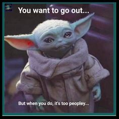 way too peopley! Stupid Funny Memes, Funny Relatable Memes, The Funny, Hilarious, Funny Pick, Funny Shit, Yoda Funny, Yoda Meme, Star Wars Humor