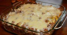 Krossa nachos i en form och häll på detta: Titta på slutresultatet! Tex Mex, Nachos, Macaroni And Cheese, Main Dishes, Nom Nom, Curry, Food And Drink, Pudding, Chips