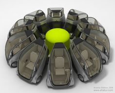 Capca Concept - future city car by Anatoly Shikhov, via Behance