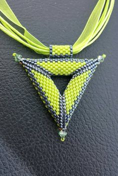 Peyote Necklace. Triangle Necklace. Trinity Necklace.