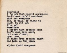 Typewriter Series #465 by Tyler Knott Gregson