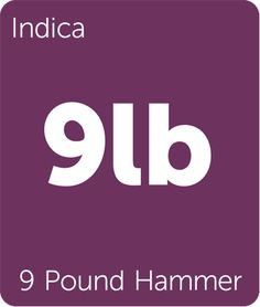 9 Pound Hammer is an 80% indica strain that crosses Gooberry, Hells OG, and Jack the Ripper.