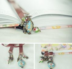 DIY bookmarks could even be for the guys with different colors and charms