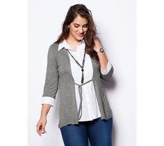 Tričko s efektem 2 v 1 a náhrdelníkem | modino.cz #ModinoCZ #modino_cz #modino_style #style #fashion #bellisima #shirt