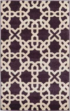 Shop for Unique Loom Charlotte Trellis Rug - x Get free delivery at Overstock - Your Online Home Decor Store! Purple Area Rugs, Beige Area Rugs, Blue Rugs, Trellis Rug, Rugs Online, Throw Rugs, Shag Rug, Rug Size, Loom