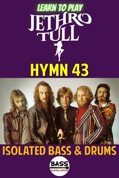 """Hymn 43 - Jethro Tull - Isolated Vintage Bass & Drums (bass elevated) - Published to help you hear and learn the bass and drums parts to """"Hymn 43"""" - Practice, Jam, Backing Track for Guitar #VintageBass #VintageDrums #JethroTull Bass Guitar Scales, Play Guitar Chords, Learn Bass Guitar, Acoustic Bass Guitar, Bass Guitar Lessons, Guitar Lessons For Beginners, Drum Lessons, Guitar Songs, Vintage Bass"""
