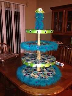 Monsters Inc cupcake stand