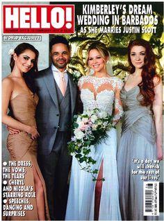 Bridesmaids Cheryl Fernandez-Versini and Nicola Roberts looked amazing in their bespoke Ariella dresses