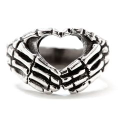 """""""Hand+Heart""""+Ring+by+Blue+Bayer+Design+(Sterling+Silver)"""