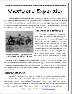 westward expansion writing activities writing prompts prompts  a content rich informational text is the foundation for our lesson on westward expansion
