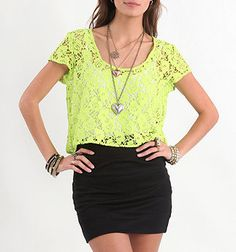 love me some neon and lace