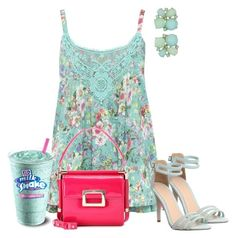 """""""Summer Sun Dress"""" by kimberlyn303 on Polyvore featuring M&Co, Office, Kate Spade and Roger Vivier"""