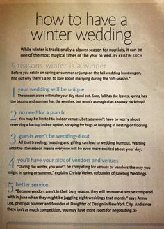 Winter Wedding @Jeannie Choi Choi Leatherwood-Kelley @Brooke Williams Williams Kelley