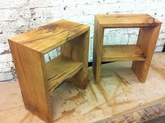 Oak side tables. Side Tables, Stool, Lounge, Furniture, Home Decor, Airport Lounge, Drawing Rooms, Decoration Home, Nightstands And Bedside Tables
