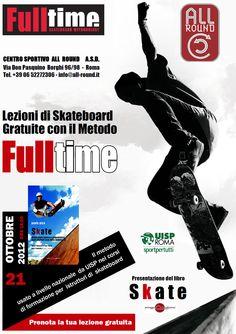 """Roma. Paolo Pica presenta il suo libro """"Skate"""" e poi inizia una dimostrazione di tecniche con il metodo FullTime."""