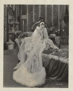 Gloria Swanson in silent film:  In Her Gilded Cage -  1922