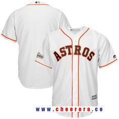 Men's Houston Astros Majestic White 2017 Postseason Cool Base Team Jersey