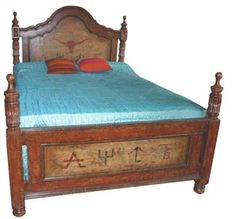 Shop Lone Star Western Decor today and enjoy savings up to on Western bedroom furniture, like this Queen Size Pillares Bed! Western Bedding Sets, Western Bedroom Decor, Western Furniture, Rustic Furniture, Bedroom Furniture, Italian Furniture, Furniture Ideas, Ranch, Southwestern Home Decor