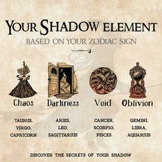 Magick 93927 Your Shadow Element - based on your Zodiac Sign - Magical Recipes Online Pisces And Aquarius, Sagittarius Scorpio, Baby Witch, Sea Witch, Wicca Witchcraft, Magick Spells, Zodiac Star Signs, Earth Signs Zodiac, Zodiac Signs Elements