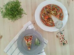 A Cozinha Verde: Pizza Caseira com Microvegetais de Mizuna Vermelha...