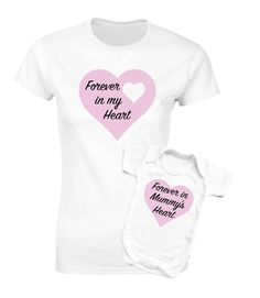 Mother and baby Daughter t-shirt and bodysuit baby grow white set. by MumKnowsBabyGrows on Etsy