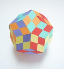 Woven Rhombic Triacontahedron - with instructions