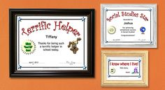 Printable awards for students: Science, Math, Social Studies, Honor Roll, Merit Roll, Character Awards, and Many Others.  #awardsforstudents #teaching #thirdgrade #secondgrade Printable Certificates, Certificate Templates, Grammar Worksheets, Teacher Worksheets, Spelling Lists, Custom Made Gift, School Today, Make Ready, Science Lessons