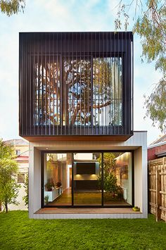 Carlton North – Modular homes and prefab homes by Modscape. Eco friendly homes w… Carlton North – Modular homes and prefab homes by Modscape. Eco friendly homes with a fixed price. Duplex Design, Tiny House Design, Modern House Design, Prefab Extensions, Maison Transportable, Carlton North, Design Exterior, Casas Containers, House Elevation