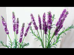 Мастер класс (авторский) Лаванда из бисера Часть 1 Соцветия Бисероплетение. Beaded lavender tutorial - YouTube
