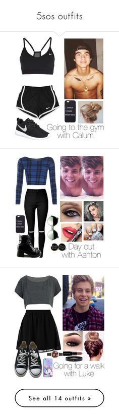 """""""5sos outfits"""" by jellybeanelle ❤ liked on Polyvore featuring NIKE, WearAll, Fiebiger, Revo, even&odd, Smashbox, Hermès, Converse, Olivia Burton and Casetify"""