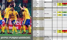 @Punjab Match Schedule, Republic Day, Thursday, Sunday, Domingo