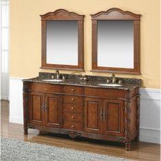 "James Martin Furniture Dalia 72"" Double Bathroom Vanity Set with Mirror"