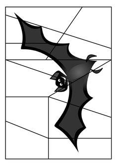 * Puzzel: Bat! Halloween Math, Halloween Party Decor, Halloween 2019, Holidays Halloween, Halloween Themes, Halloween Crafts, Carnival Crafts, Holidays And Events, Preschool Activities