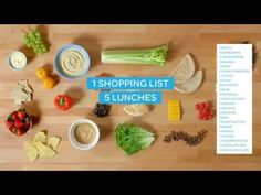 The morning scramble to pack lunches can be brutal. This week, get some of that time unscrambled (i.e., back) by packing a week's worth on Sunday evening. All you need is one grocery list—and an hour in the kitchen—for five easy, healthful, packable lunches. Ready set...shop, prep, assemble!