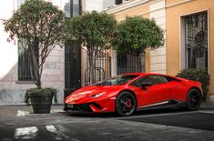 The Lamborghini Huracan was debuted at the 2014 Geneva Motor Show and went into production in the same year. The car Lamborghini's replacement to the Gallardo. Super Sport Cars, Exotic Sports Cars, Cool Sports Cars, Cool Cars, Lamborghini Aventador, Sports Cars Lamborghini, Ferrari, Maserati, Bugatti