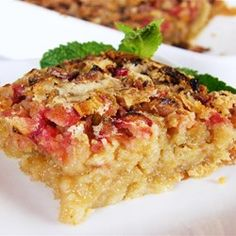"""Gluten-Free Rhubarb Bars 