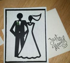 Bride and Groom A2 card cricut Just Married